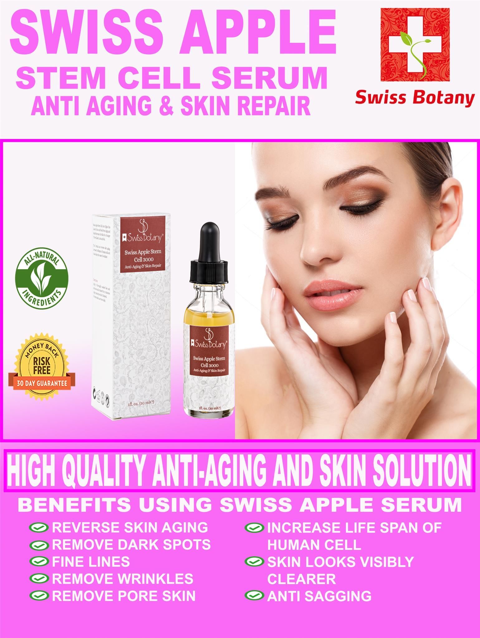 Swiss Apple Stem Cell Serum High Quality Stem Cell serum