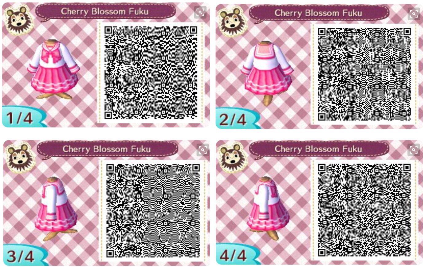 Bien-aimé Animal Crossing New Leaf: QR Code dress Cherry blossom fuku  IQ12