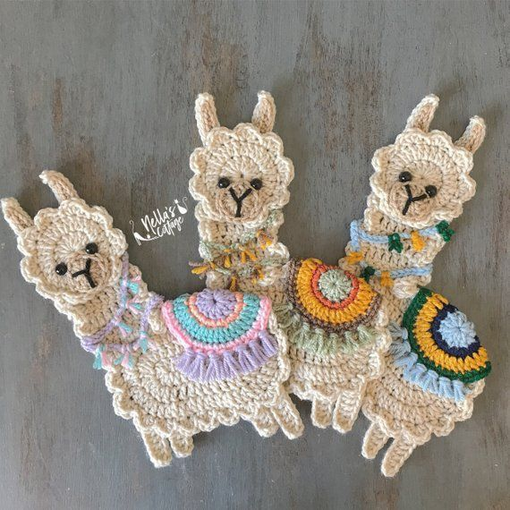 Super liebenswert Lama-Applikation, die Sie verwenden können, zu verschönern #crochetapplique