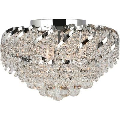 Worldwide Lighting Empire Collection 6 Light Chrome And Clear