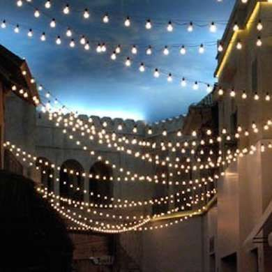 14 Bright Ideas for Lighting Your Backyard   Outdoor string lighting on gazebo wedding decorations ideas, outside wedding decoration ideas, bar lighting ideas, beach lighting ideas, lobby lighting ideas, wedding supply rentals in texas, party tent lighting ideas, sauna lighting ideas, ballroom lighting ideas, restaurant lighting ideas, reception lighting ideas, rustic wedding gazebo ideas, wedding gazebo decorating ideas, camping tent lighting ideas, beachfront lighting ideas, game room lighting ideas, pool lighting ideas, spa lighting ideas, theatre lighting ideas, gazebo design ideas,