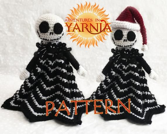 Jack Skellington Lovey Crochet Pattern, INSTANT DOWNLOAD, security blanket #securityblankets