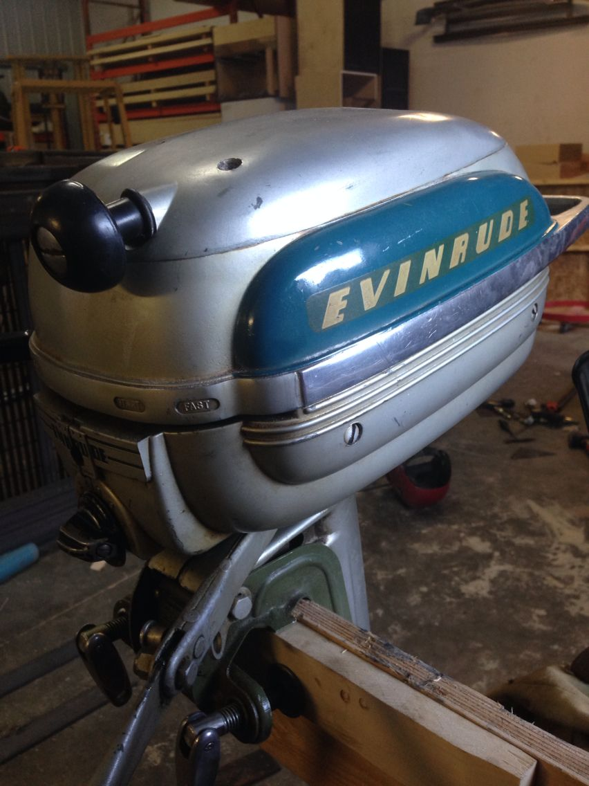 A nice original evinrude sportsman 15 outboard