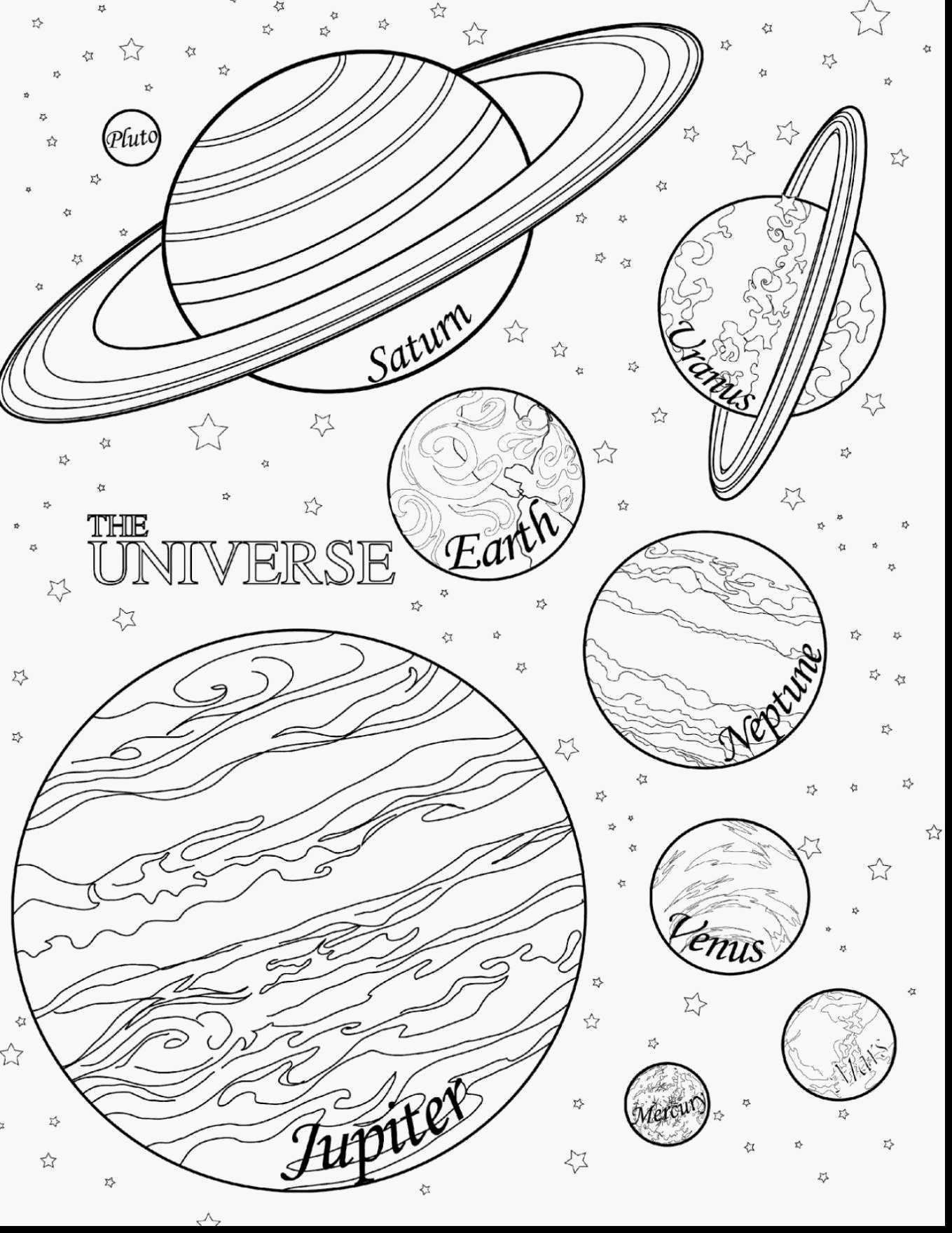 Universe Coloring Page