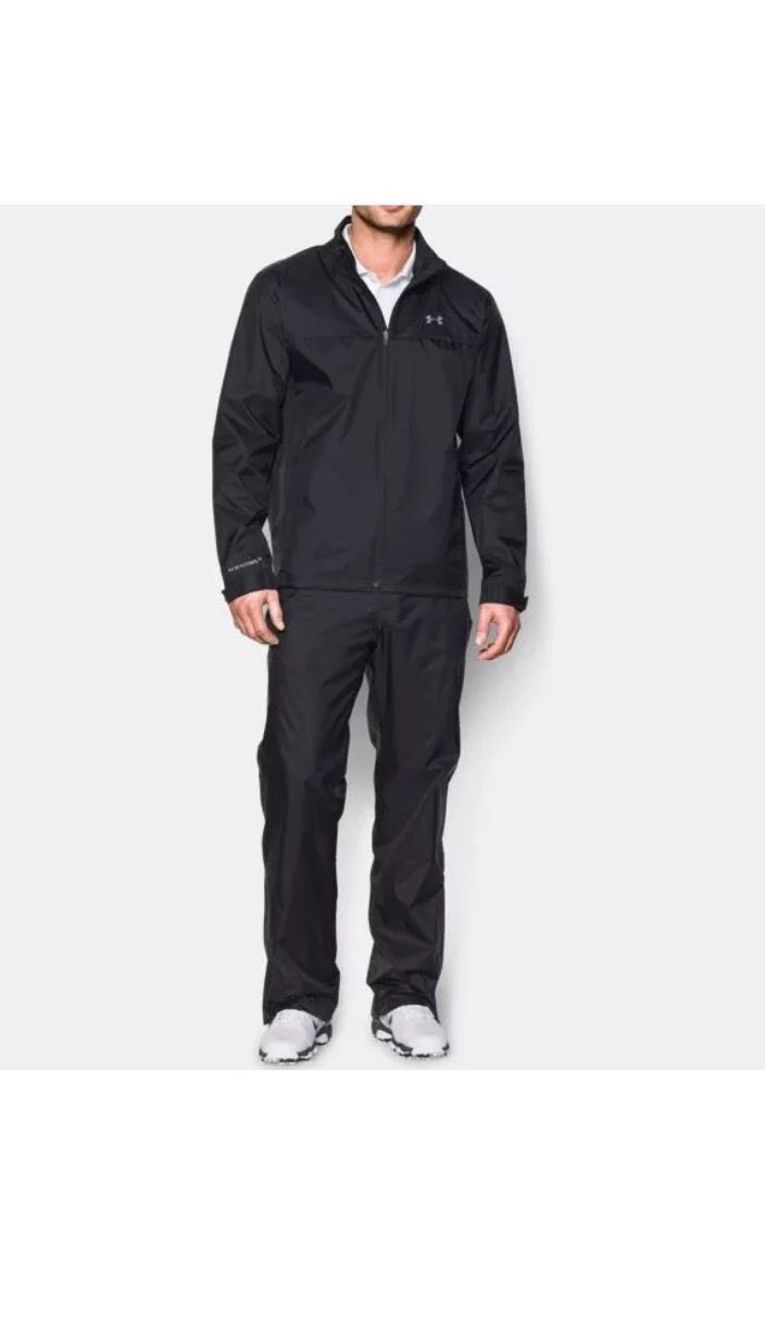 Coats and Jackets 181134: $169.99 Under Armour Storm 3 Mens Golf Rain Suit Black 1259439 Size Xxl2 Nwt BUY IT NOW ONLY: $89.95
