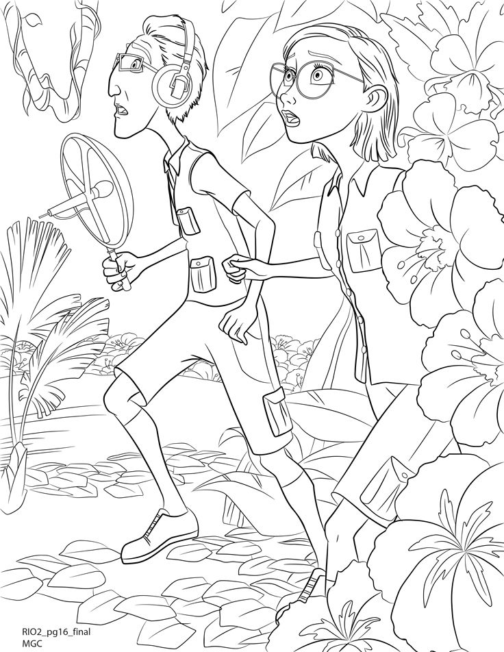 Coloring Pages To Print Out Linda And Tulio On The Search For Blue Macaws Your Prowess More Rio Check Book Blus Wild Journey