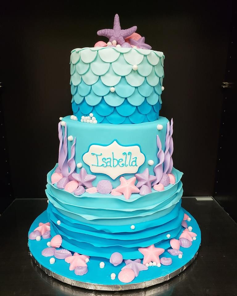 Fine Mermaid Under The Sea Cake With Images Quinceanera Cakes Cake Funny Birthday Cards Online Eattedamsfinfo