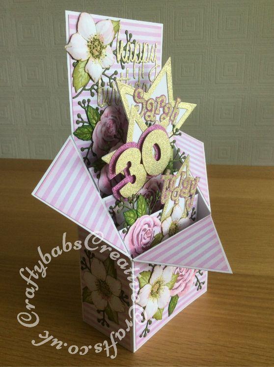 Handmade 3D pop up box HAPPY BIRTHDAY nautical card kit of 4 made w// Stampin Up