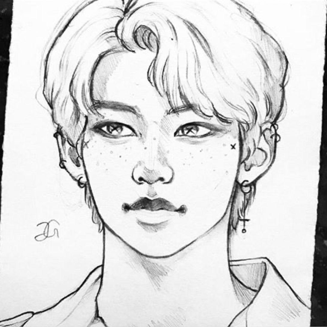 Done By Hanasart On Instagram Boy Hair Drawing Kpop Drawings Anime Drawings Boy