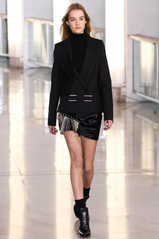 Maartje Verhoef for Anthony Vaccarello Fall/Winter 2015