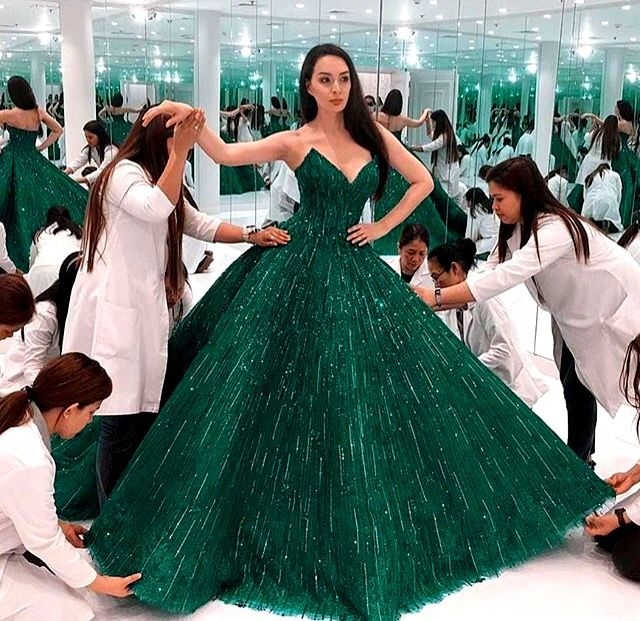 Afghan Wedding Gowns: #green #nekah #dress #afghan #wedding In 2019