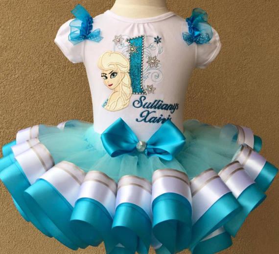 Frozen Birthday Outfit  Frozen Tutu Set  Frozen Ribbon Tutu  Frozen Birthday Shirt  Elsa and Anna Tutu Set  Frozen Tutu Girl  Disney