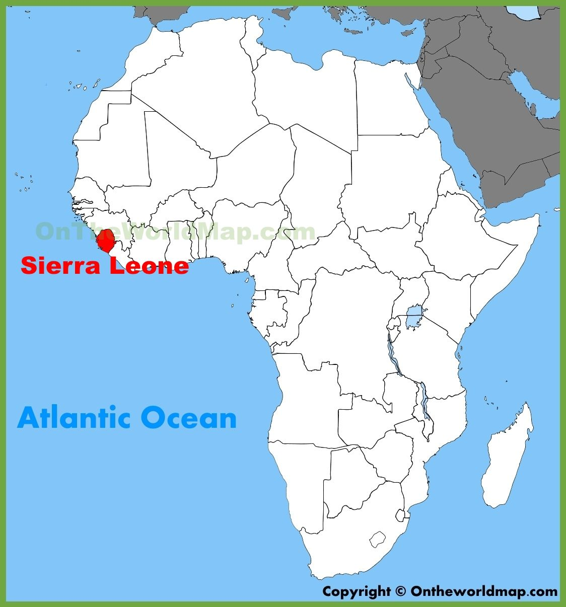 Map Of Africa Sierra Leone Sierra Leone location on the Africa map | Africa map, African map, Map