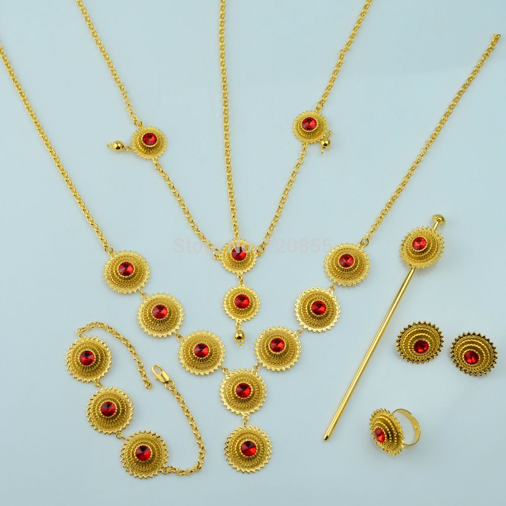 Find More Jewelry Sets Information about Ethiopian set jewelry Gold