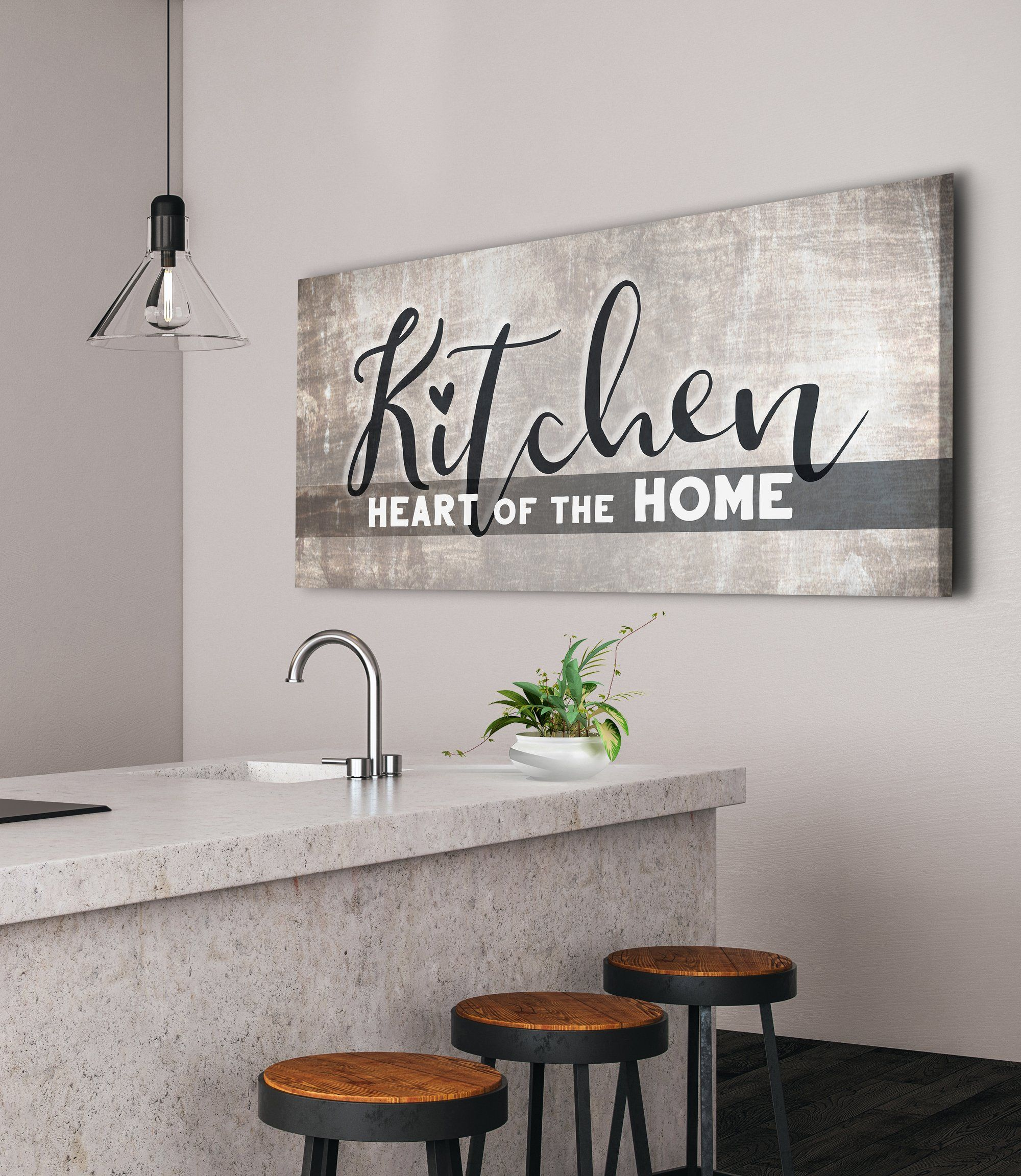 Kitchen Wall Art Kitchen Heart Of The Home Wood Frame Ready To Hang Kitchen Wall Art Family Wall Art Family Wall Kitchen is the heart of the home wall art