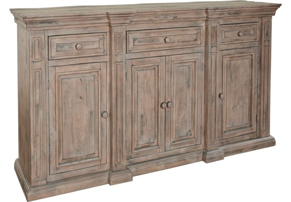 Pine Manor Brown Buffet Servers Dark Wood Cindy Crawford Home Rooms To Go Furniture Dining Room Buffet