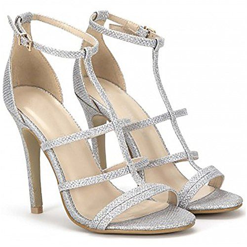 cozy fresh promo code shop best sellers LADIES SILVER GLITTER SPARKLY STRAPPY OPEN TOE STILETTO HIGH ...