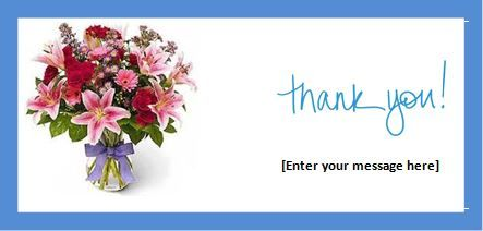 microsoft thank you card template