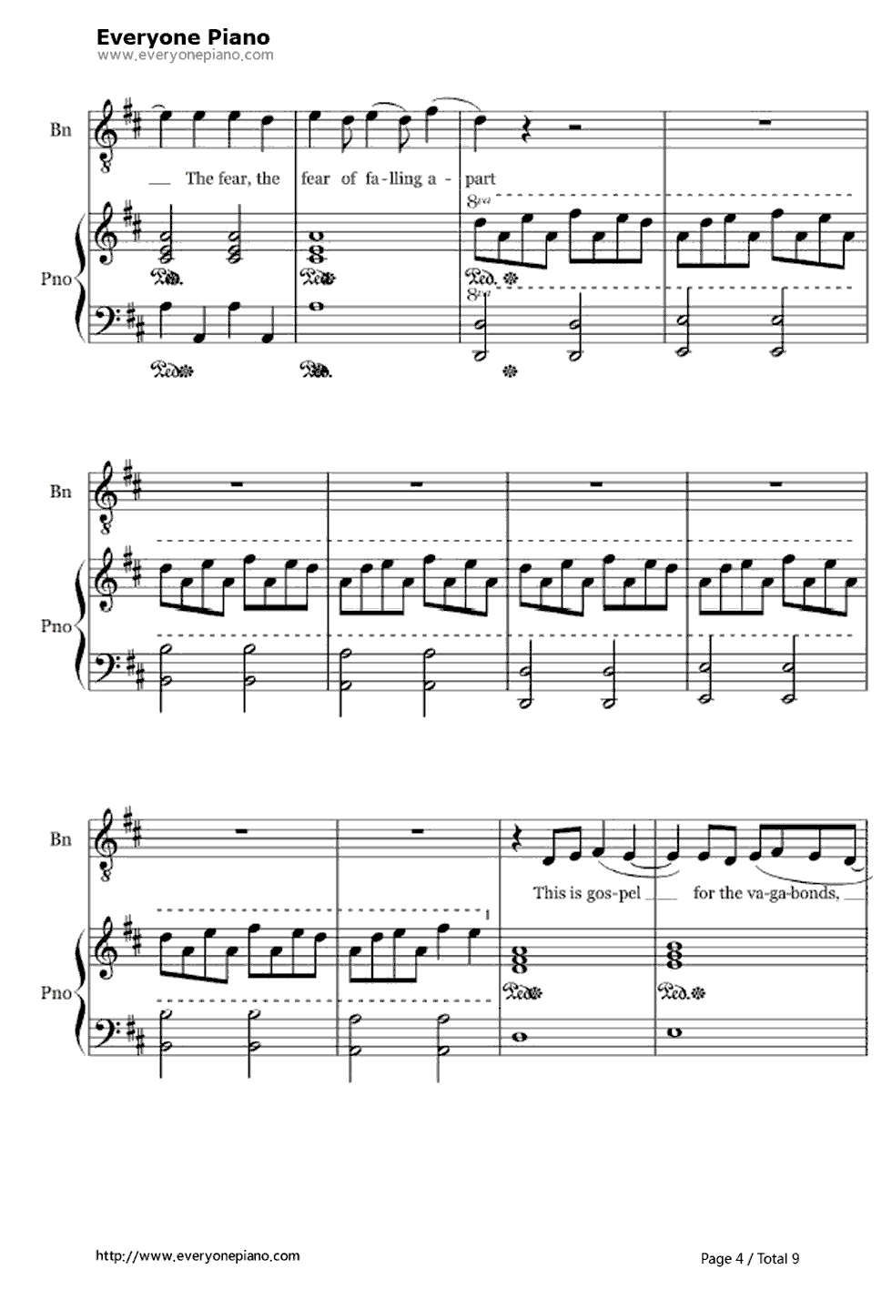 This is a photo of Trust Free Printable Gospel Sheet Music for Piano