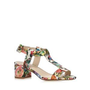 Red Herring Green floral mid sandals- at Debenhams Mobile
