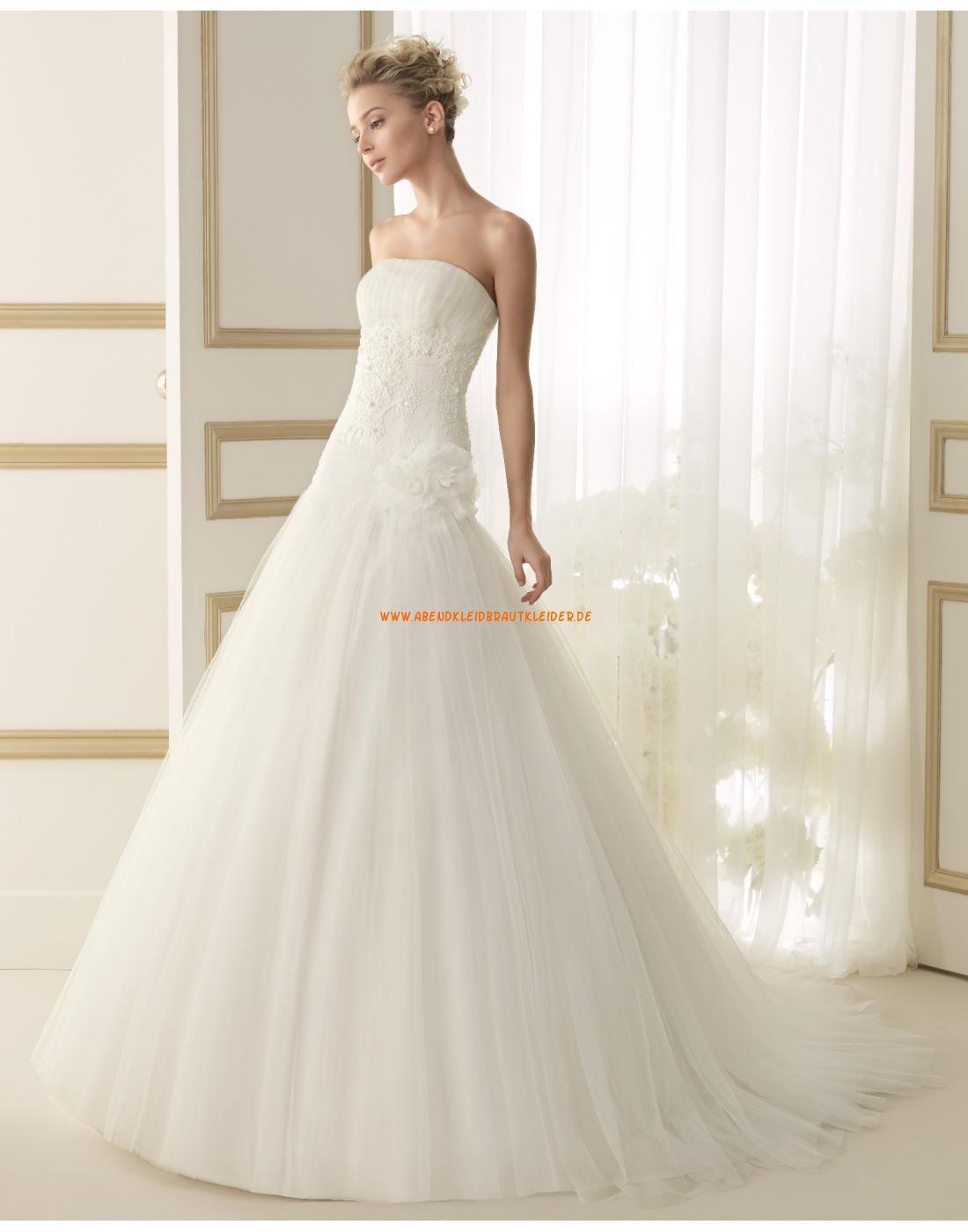 hübsche trägerlose Brautkleider