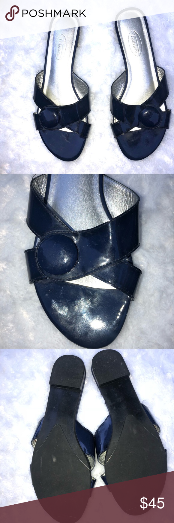 Talbots navy sandals size 8B Talbots navy sandals size 8B