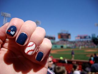 Possibly polished baseball in bostonfenway park in the trendy nail art possibly polished baseball in bostonfenway park in the background prinsesfo Images