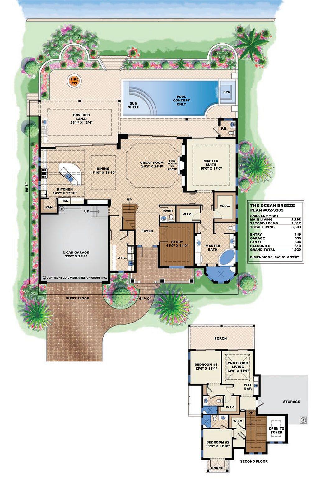 Beach House Plan Old Florida Caribbean Style Home Floor Plan Florida House Plans Key West House Coastal House Plans