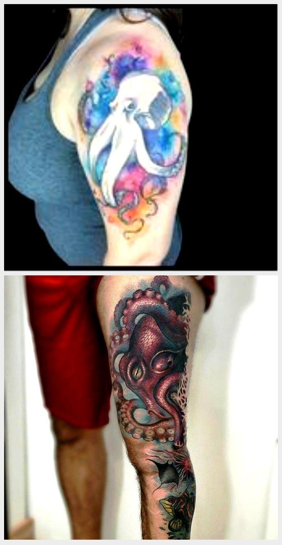 Photo of Cooles Aquarell Octopus Tattoo Design für Mädchen #Cool #Design #Girls #Octopus # …