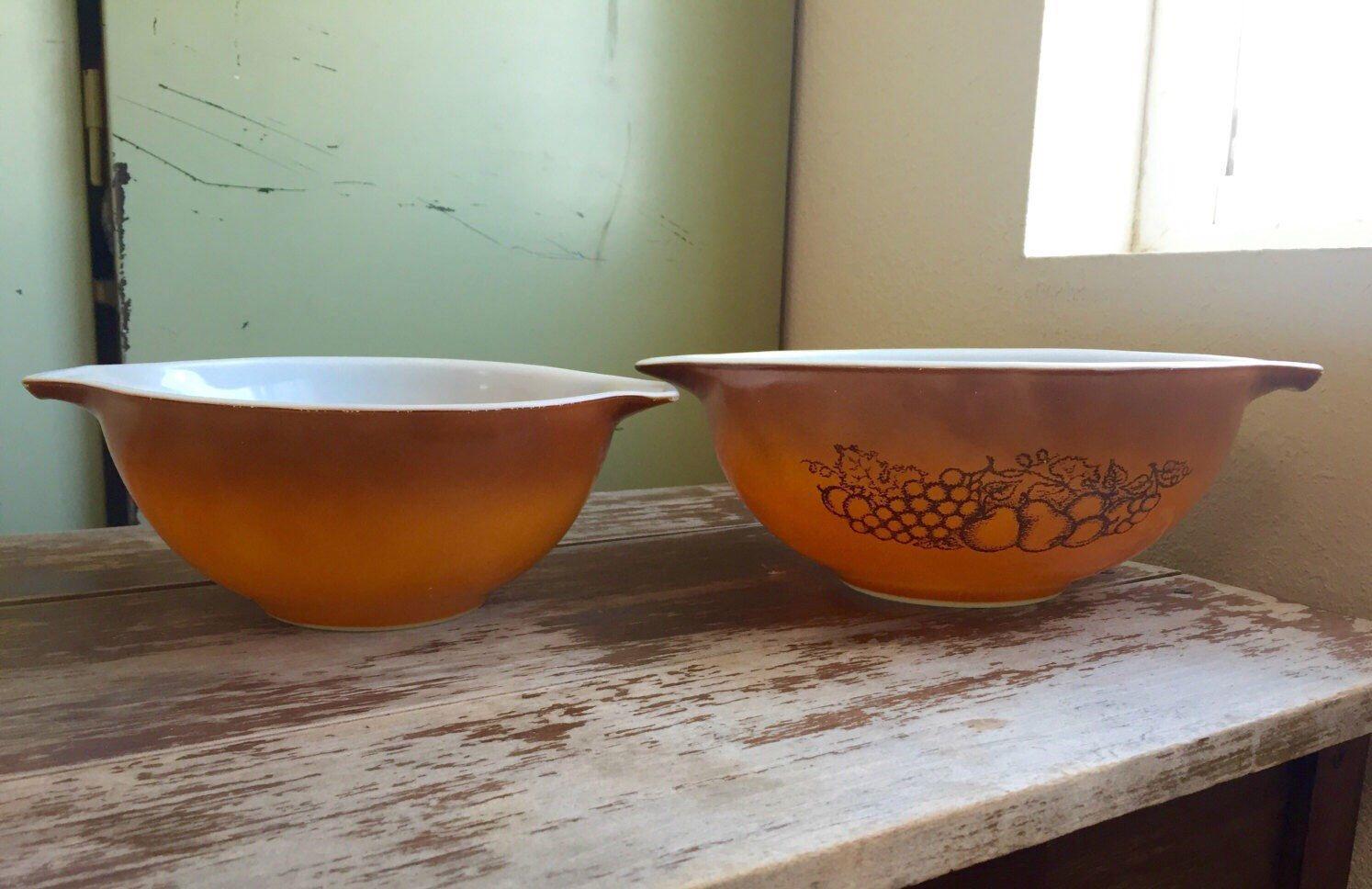 Vintage Pyrex Cinderella Mixing Bowls; Golden Ombré Pyrex; Old ...