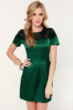 Nights In Green Satin Dress Dressing Pinterest Semi Formal