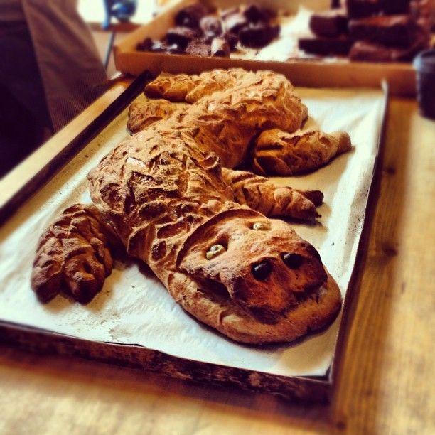 Bread crocodile!