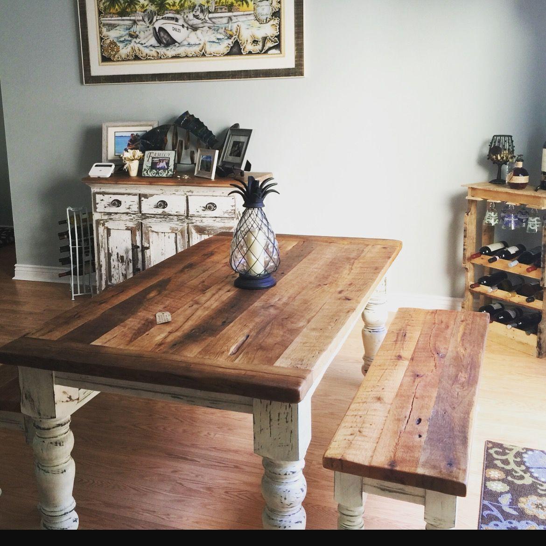 Custom made 6 foot farmhouse table set in 2020 farmhouse
