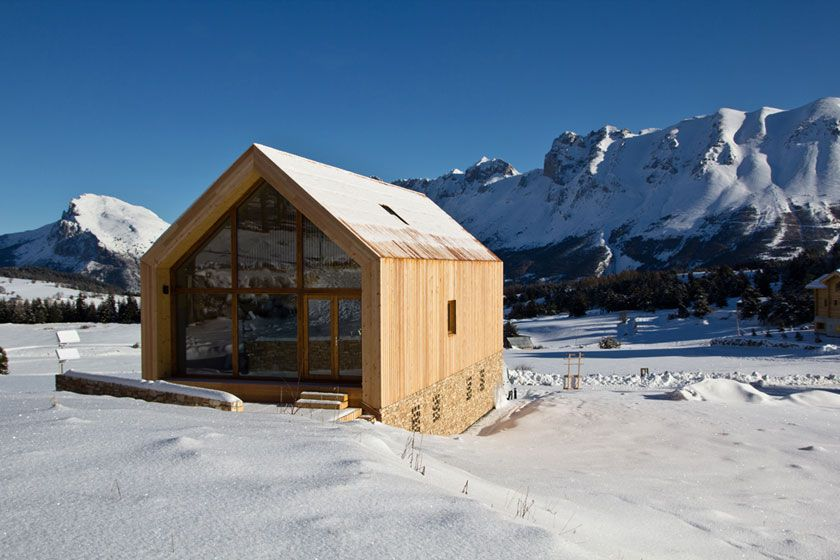 Fr d ric g raud architecte chalet contemporain face for Alpes archi