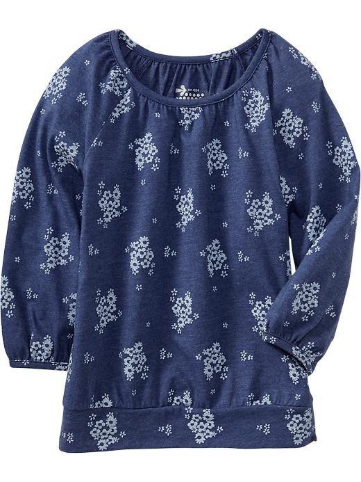 ebe6f7eeacfc2 Old Navy | Girls Raglan-Sleeve Jersey Tops | Cute clothes | Old navy ...
