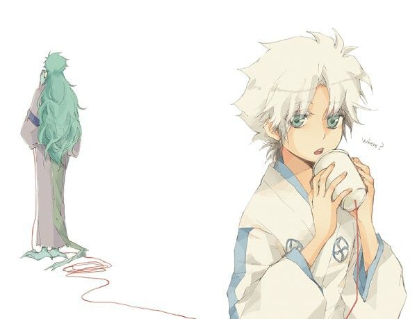 Hyourinmaru and Toshiro.