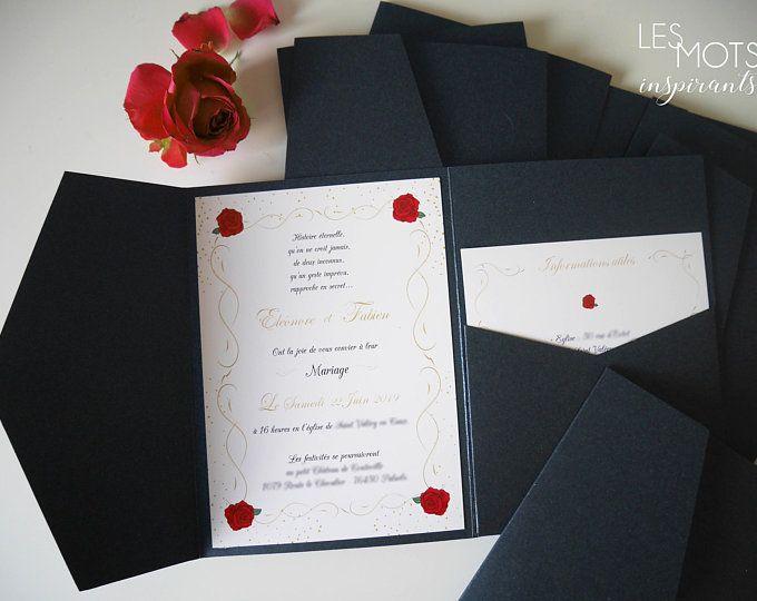 Faire part mariage disney, invitation chateau Disney, faire part personnalisé