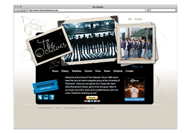The Octaves Website by e6