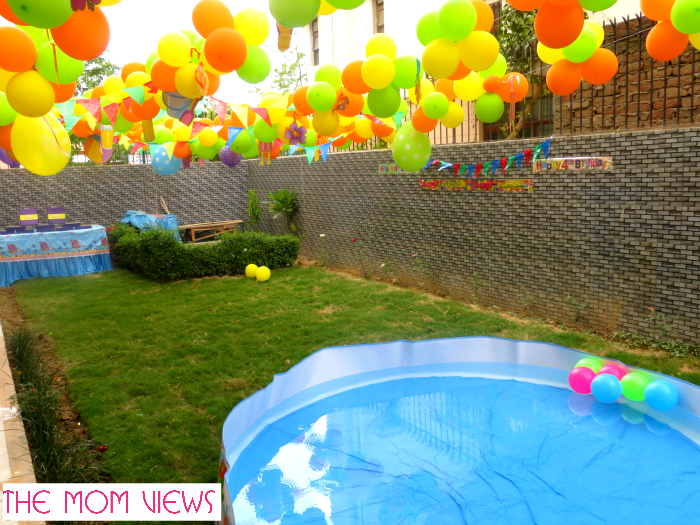 Yard Decoration Ideas For Birthday Parties Decorideaz Com Pool Party Kids Pool Party Supplies Pool Party Themes