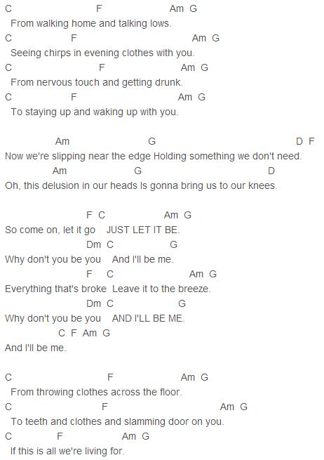 James Bay - Let It Go Chords Capo 1 : James Bay : Pinterest : Guitars, Ukulele songs and Songs