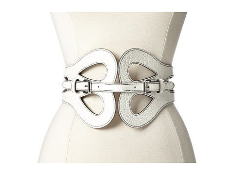 BCBGMAXAZRIA PU Waist Belt White - Zappos.com Free Shipping BOTH Ways