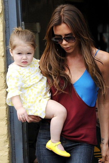 Harper Beckham with her mum in Beverly Hills, April 5 2013