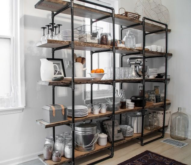 The benefit in using free standing kitchen shelves for Best industrial design companies