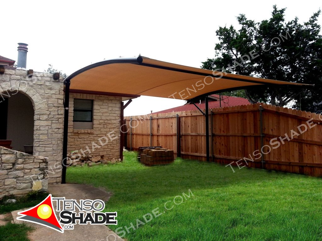 offset cantilever curve shade structures shade sails custom