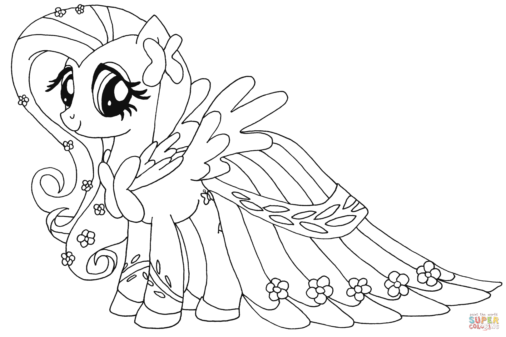 Fluttershy Super Coloring My Little Pony Drawing My Little