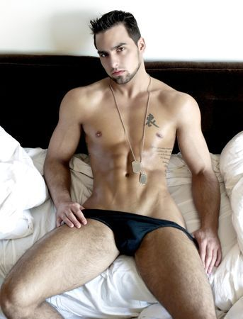 Heated twink menage a trois on white cushions