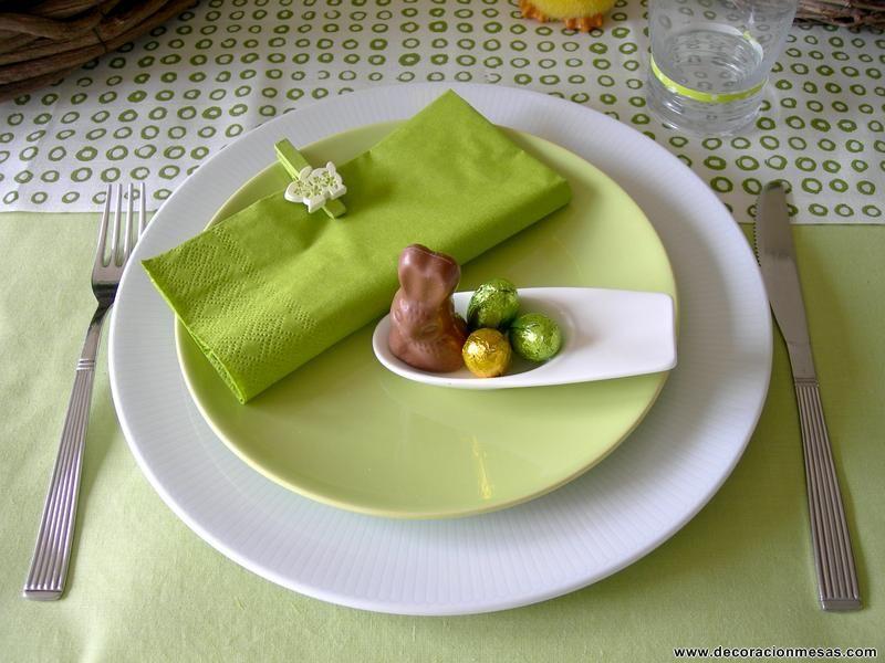 Decoracion de mesas: Mesa de Pascua