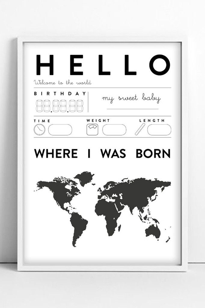 Babyzimmer Len tellkiddo hello baby poster the kid who interior design