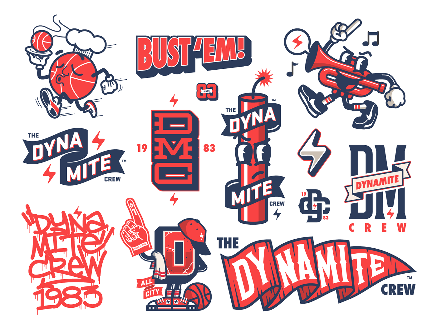 """Check out this Behance project """"Dynamite! Crew Vector"""
