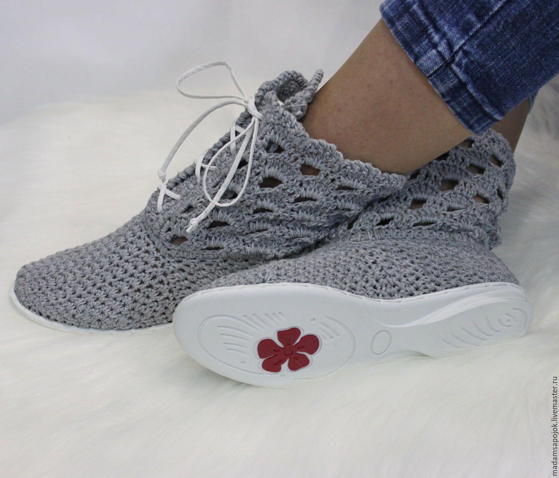 вязаная обувь для дома схемы